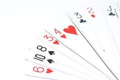 Separe las tarjetas Imagen de archivo libre de regalías