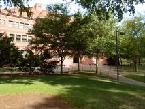 Separe Salão, jarda de Harvard, Universidade de Harvard, Cambridge, Massachusetts, EUA Imagens de Stock