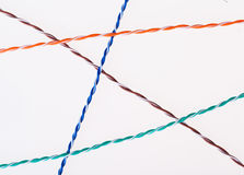 Separeted twisted pair Royalty Free Stock Photos