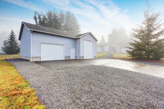 Seperate garage and shop room. Royalty Free Stock Photo