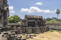 A seperate room on grounds of 2nd level at Angkor Wat Royalty Free Stock Image