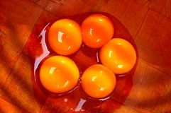 Seperated egg yolks Royalty Free Stock Photography