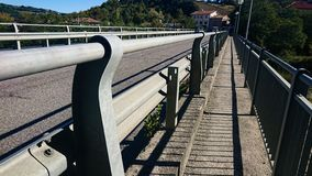 Footway over a bridge stock photos