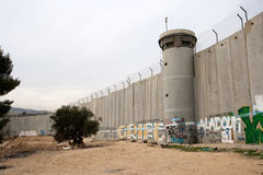 Seperation Wall - Palestine Stock Images