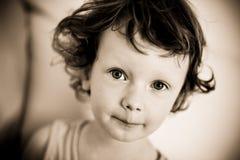 Sephia Junge Stockfoto