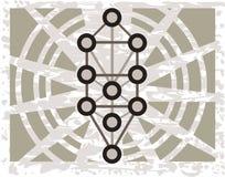 Sephirothboom op abstracte achtergrond royalty-vrije illustratie