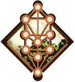 Sephirothboom op abstracte geïsoleerde achtergrond royalty-vrije illustratie