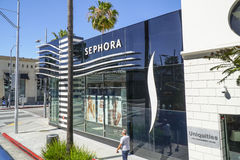 Sephora in Beverly Hills - LOS ANGELES - CALIFORNIA - APRIL 20, 2017 royalty free stock photo