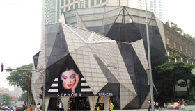 Sephora at Bukit Bintang Kuala Lumpur Royalty Free Stock Photography