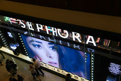 Sephora. Is a French brand and chain of cosmetics stores ,Dubai Stock Images