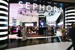 Sephora. Is a French brand and chain of cosmetics stores ,Dubai Stock Photo