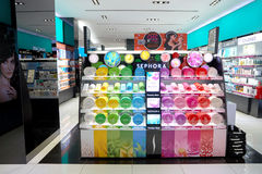 Sephora. KUALA LUMPUR, MALAYSIA - CIRCA MAY, 2016: Sephora store in Kuala Lumpur. Sephora is a French brand and chain of cosmetics stores Royalty Free Stock Photography