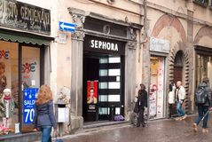 Sephora shop in Lucca, Italy Stock Image