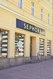 Sephora store exterior. KARLOVY VARY, CZECH REPUBLIC - JUNE 11, 2017: Sephora store exterior, French chain of cosmetics stores founded in 1969 Stock Photography