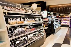 Sephora Store. Sephora is a French chain of cosmetics stores founded in 1970. Featuring nearly 300 brands, along with its own private label, Sephora offers Royalty Free Stock Photos