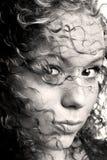 Sepia à moda do cabelo Imagens de Stock Royalty Free