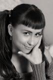 sepia волос красотки длинний Стоковые Фото