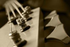 sepia головки гитары крупного плана Стоковые Фотографии RF