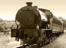 Sepia поезда пара стоковые фотографии rf