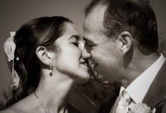 sepia поцелуя Стоковые Фото