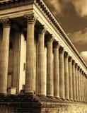 Sepia-тонизированный взгляд ратуши Стоковые Изображения