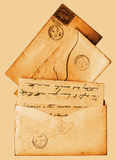 Sepia 1860s letters victorian Stock Images