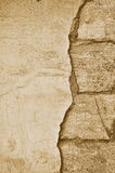 Sepia abstract background old brick wall. Royalty Free Stock Photography