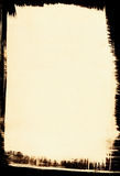 Sepia achtergrond met Zwarte Grens Royalty-vrije Stock Foto's