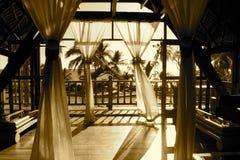 Sepia Amarina Balkon Stockbilder