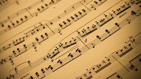 Sepia Ancient Sheet Music Background, Stock Image