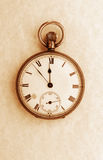Sepia antigua del reloj de bolsillo Fotografía de archivo