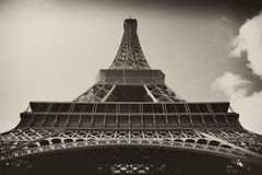 Sepia antique plate picture of the Eiffel Tower Stock Photos