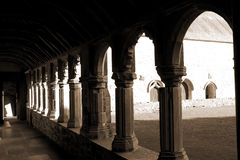 Sepia arches in Holycross abbey Royalty Free Stock Photography