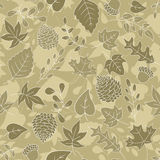 Sepia Autumn Background Lizenzfreie Stockfotografie