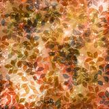 Sepia and autumn leaves Royalty Free Stock Photos