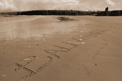 Sepia ballybunion inscribed Stock Photography