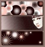 Sepia banners Stock Afbeeldingen