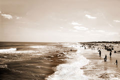 Sepia Beach Stock Photo