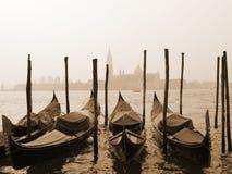 Sepia beeld van Venetië Stock Foto's