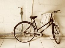 Sepia bicycle Royalty Free Stock Photos