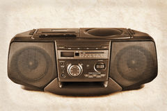 Sepia boombox Royalty Free Stock Image