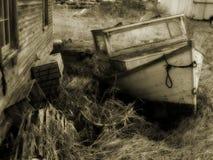 Sepia-Boot Stockbild