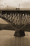 Sepia bridge Stock Image