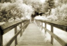 Sepia Bridge Stock Photography