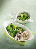 Sepia with broccoli Royalty Free Stock Photos