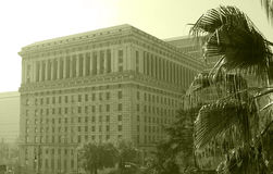 Sepia Building in L.A. Stock Images