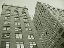 Sepia Buildings. In NYC royalty free stock images