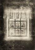 Sepia campesina de la ventana Imágenes de archivo libres de regalías