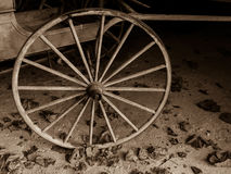 Sepia Cart Wheel Royalty Free Stock Image