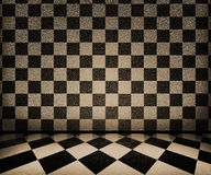 Sepia Chessboard Interior Background Stock Photos